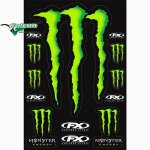 Лист наклеек Factory Effex Monster Energy XL